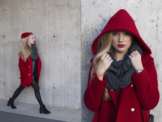 Ewa Michalik - Talia Coat, Cado Scarf, Ryłko Shoes, Zara Dress - Get REaDy, stay warm!