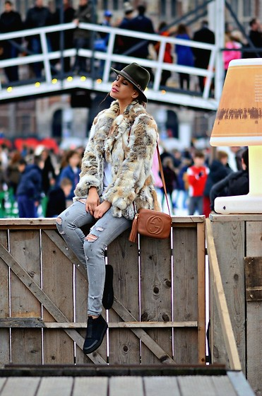 Tamara Chloe - Morgan De Toi Coat, Gucci Bag, Alexander Wang Sneakers, Zara Jeans - The Ice Rink