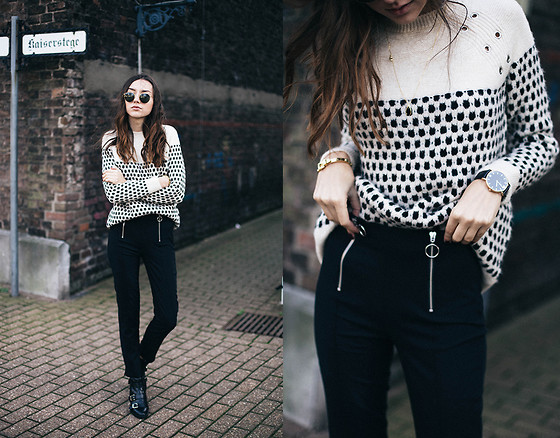 Bea G - Sweater, Pants, Shoes, Watch, Sunglasses - Stripes & Dots