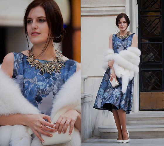 Viktoriya Sener - Jane Stone Necklace, Chic Wish Dress, Adamo Bolero, Koton Clutch, Mango Pumps - THEATER