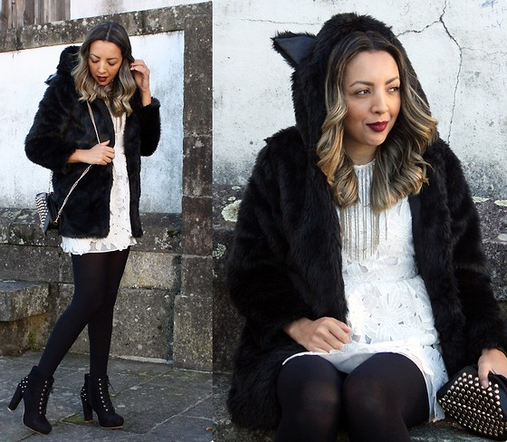 Cá Cavalcant - Deal Sale Bag, Sammydress Lace Dress, Zaful Coat Faux Fur - Winter Look