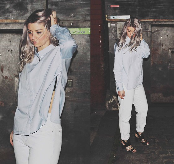 Joey Taylor - Monki Chambray Shirt, Urban Outfitters Jeans, Topshop Snake Heels - CHAMBRAY DENIM SHIRT