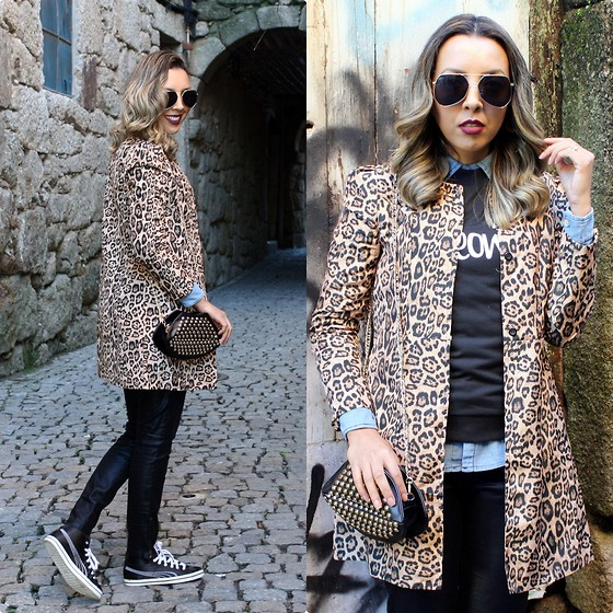 Cá Cavalcant - Zaful Coat, Yoyomelody Sweatshirt, Deal Sale Bag, Zaful Suglasses - It's time to Meow...