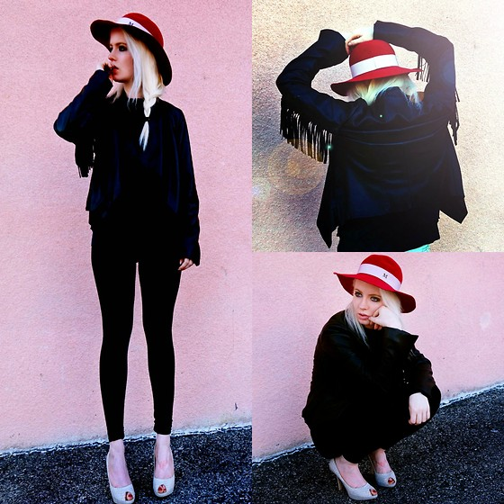 Jenny Burgartz - Maison Michel Hat, Kutfromthekloth Jacket, Christian Dior Shoes, Acne Studios Shirt - 02.08.2016