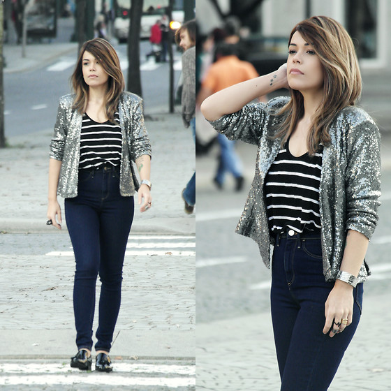 Priscila Diniz - Blazer, Jeans, Shirt, Shoes - SHINNY AFTERNOON!