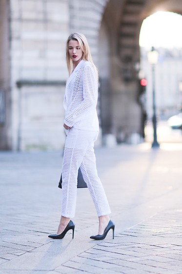 Meryl Denis - On Parle De Vous Jacket, On Parle De Vous Pant, Zara Shoes - White Paris