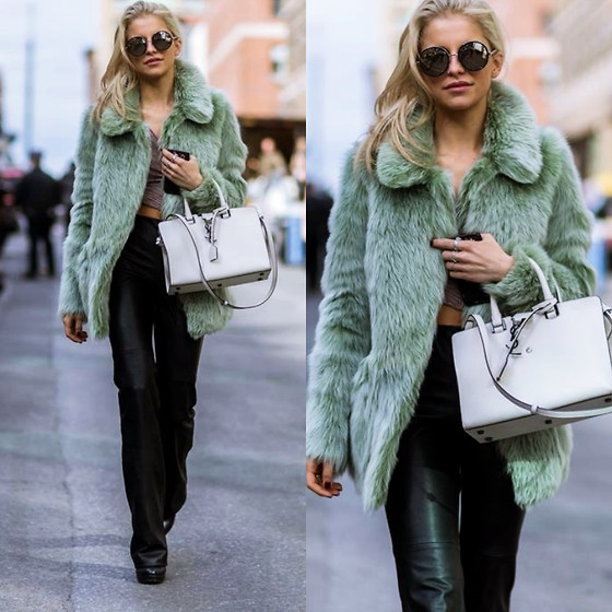 Caro Daur - Saint Laurent Bag, Topshop Jacket - NEW YORK FASHION WEEK OUTFIT I