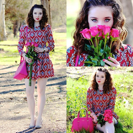 The Indie Girl Fleming - Romwe Red Dress - Kiss Me: Romwe Valentines Day Look
