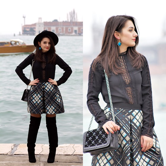 Nicoleta Ciobanu - Pinko Skirt, Zara Blouse, Zara Mini Bag, Marc By Jacobs Over The Knee Heel Boots - NOT YOUR CLICHE VALENTINE