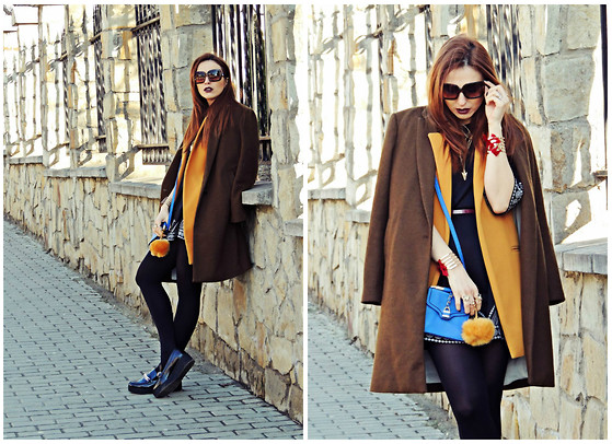 Daniela Macsim - Pull & Bear Coat, Sheinside Vest, Sheinside Dress, Stradivarius Shoes - Spring layering