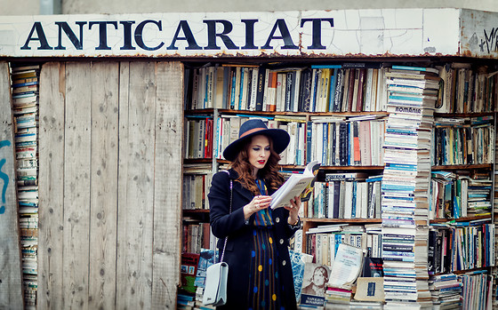Daniela Macsim - H&M Hat - A book is a dream that you hold in your hand