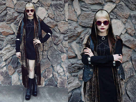 Severine A - Haider Ackerman Vest, Konstantino Ring, Rick Owens Shirt, Shakuhachi Vest, Gee Wa Boots - Gothic Tropic