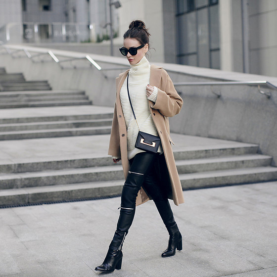 Sonya Karamazova - Zara Pants, Sophie Hulme Bag - CAMEL AND LEATHER