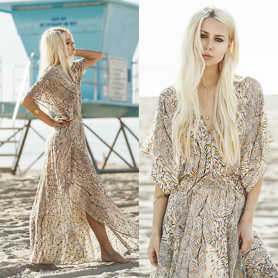 Sarah Loven - Pbj Boutique Feathered Maxi Dress - Huntington Beach