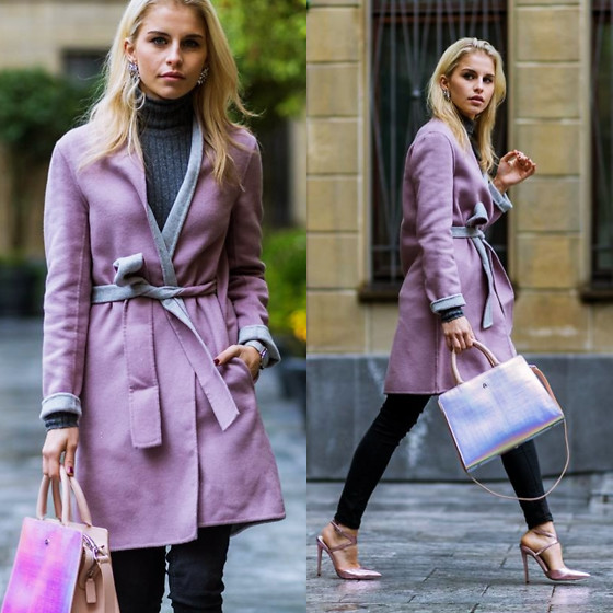 Caro Daur - Aigner Bag, Max And Co Coat, Asos Shoes - Rosé and metallic!