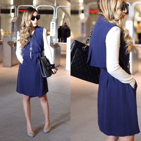 Sasa Zoe - Currently 55% Off Sleeveless Trench, Heels, Bag, Sunglasses, Necklace - SLEEVELESS TRENCH