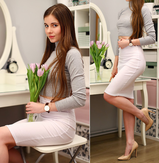 Ariadna Majewska - White Pencil Skirt - Pencil skirt