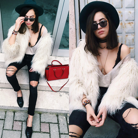 Fransi - Michael Kors Bag, H&M Fur, H&M Jeans, Zara Shoes - Keeping it casual