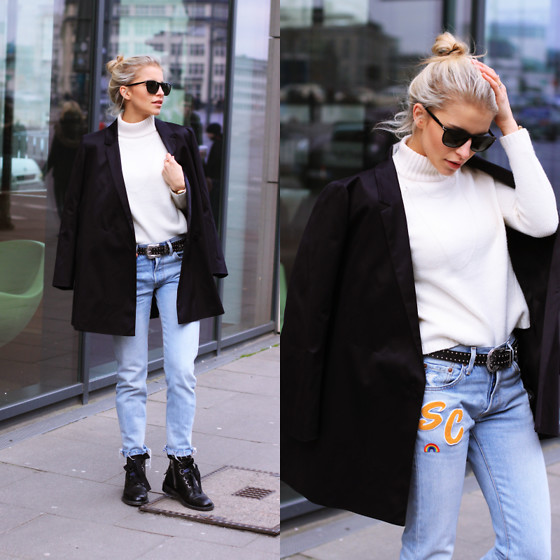 Caro Daur - Levi's® Pants, Topshop Belt, Zadig & Voltaire Shoes, Cos Blazer, Stefanel Sweater, Le Specs Sunnies - Casual