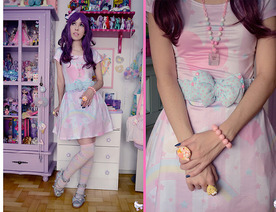 Luly Pastel Cubes - Follow The White Rabbit Dress, Follow The White Rabbit Belt, Unicorn Holic Sparkles - Lovely heart