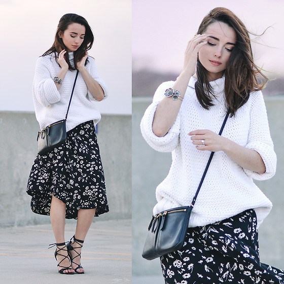 Carissa G. - Liz Claiborne Sweater, Fossil Bag, Urban Outfitters Skirt, Bakers Shoes - Hot and Cold