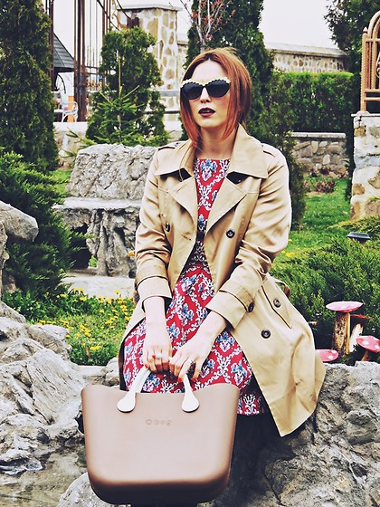 Daniela Macsim - Wantdo Trench Coat, Romwe Dress, O Bag Bag - Spring look