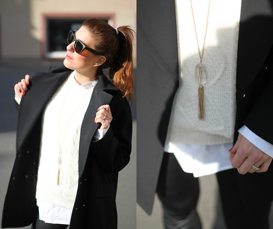 Lea Zeitman - H&M Coat, H&M Sweater, American Apparel Pants - Here comes the sun