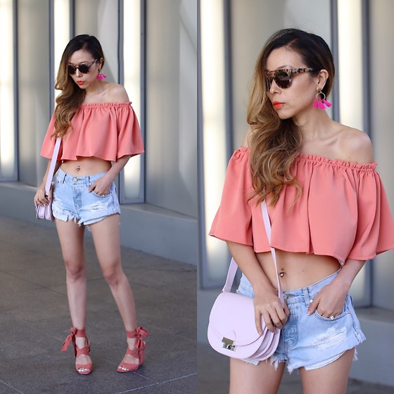 Sasa Zoe - Only $80 Top, Shorts, Earrings, Bag, Only $51 Lace Up Sandals, Sunglasses - FESTIVAL INSPIRED