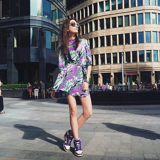 Anna Brain - Iswagshop Dress, Nike Sneakers, Romwe Sunglasses - SPRING TIME