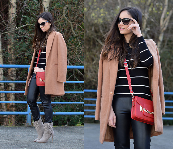 Alba . - Just Fab Boots, Just Fab Bolso, Shein Shirt, Shein Coat -  Camel & Leather