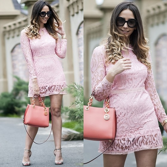 Manuella Lupascu - Light In The Box Dress, Ami Clubwear Sandals - Spring dress and Pink Inspiration