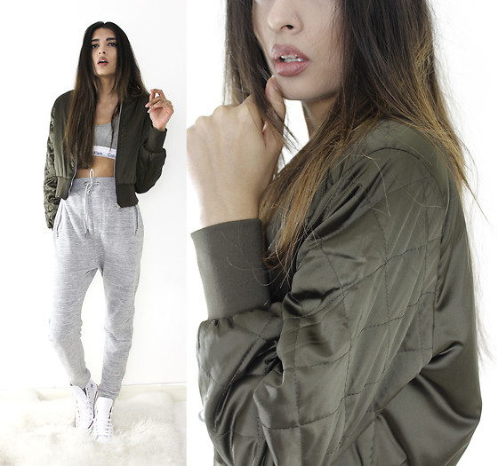 Yatri P - Primark Joggers, Boohoo Bomber Jacket, Calvin Klein Bralette, Converse - CASUAL SPORTS