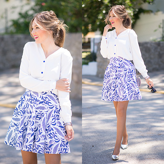 Helena Cueva - Chicwish Skirt, Oh My Looks Shop Blouse - Celebration