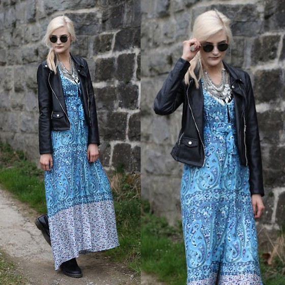Faye S. - Arnhem Dress, Zara Jacket, Ray Ban Sunglasses - Half in and half out of the light