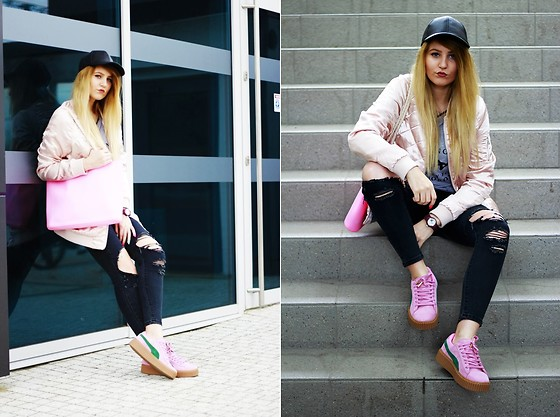 Gabriela Kugla - Stradivarius Jacket, Sheinside Pants, Puma Shoes, H&M Cap - Casual