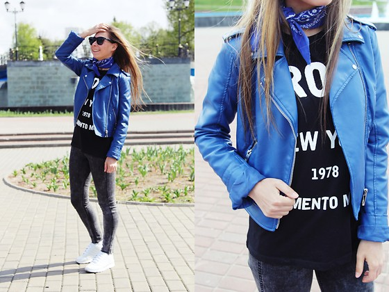 Anna Sever - H&M Jeans - Leather jacket