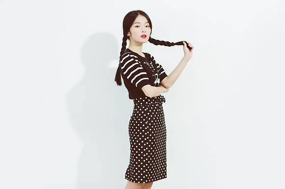 Isabellaaaaa - To.B By Agnes B Knit Wear, To.B By Agnes B Dots Skirt - Seldom in black