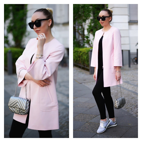 Vanessa Kandzia - Coat, Sunglasses, Sneakers - SPORTY GLAM
