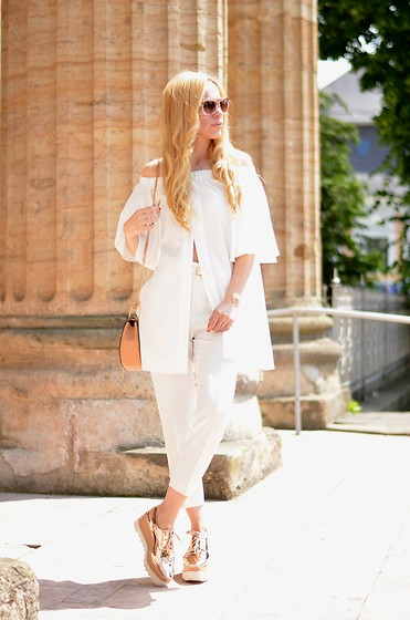 Lavinia F - Jessica Buurman Shoes, Sheinside Top - White kind of day