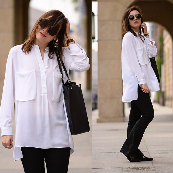 Daria R. -  - Flare pants and white shirt