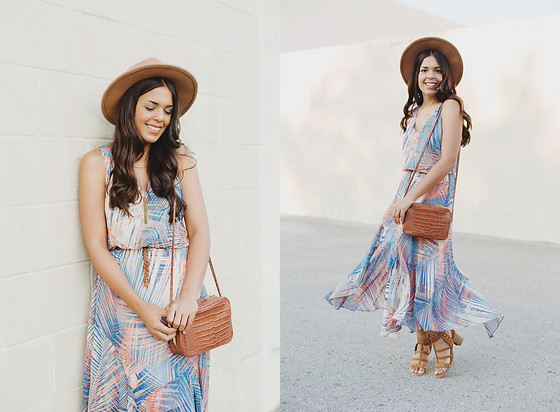 Nydia Enid - London Times Maxi Dress, Shoedazzle Heeled Studded Sandals - TROPICAL DRESS FT. LONDON TIMES // OOTD