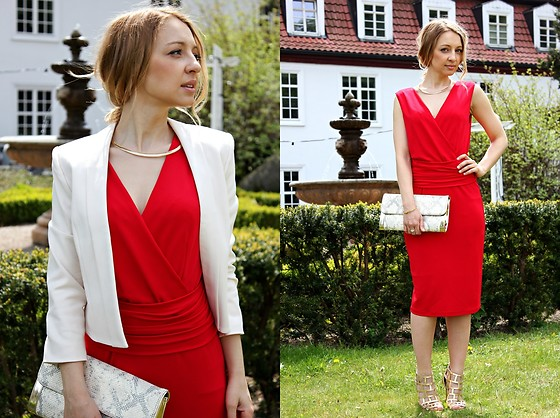 Emilia Błaszczyk - Maxmara Dress, Pretty One Jacket - Perfect Red Dress