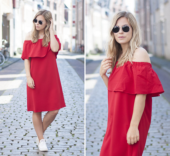 Jules V - Costes Ruffle Dress - Red Ruffles