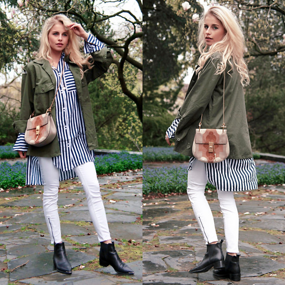 Caro Daur - Chloe Bag, Edited The Label Shirt, Acne Studios Shoes - Stripes