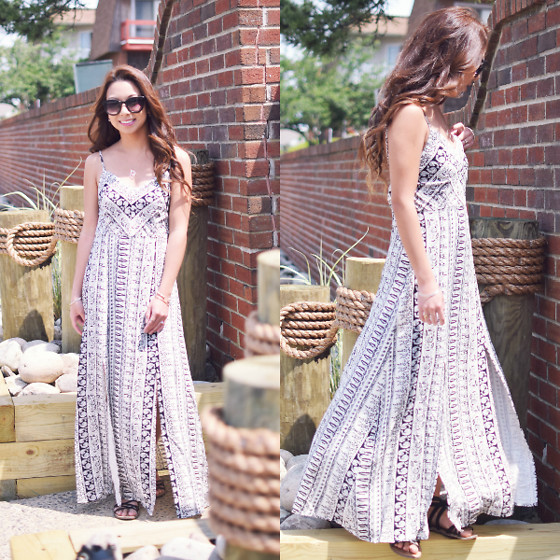 Melanie P. - Stylewe Printed Slit Maxi Dress - Slit Maxis for Summer