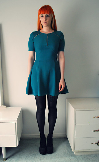 Alphie LaFray - Miss Selfridge Teal Panel Dress - To hell with your double standards