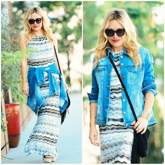 Zia Domic - Rachel Roy Oversize Denim Jacket, Vacaystyle Maxi Dress - Modular Maxi
