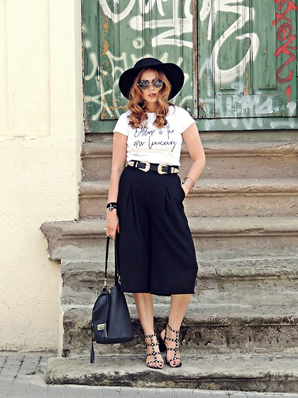 Daniela Macsim - Zara Culottes, Zaful Double Buckle Waistband, Amiclubwear Sandals - Offline is the new luxury