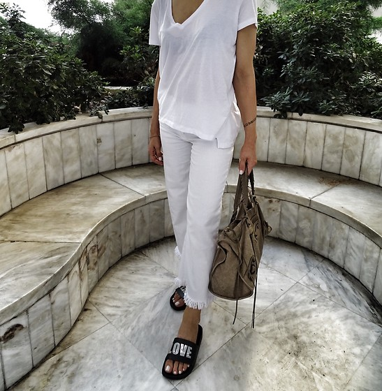 Zara Denim, Balenciaga Bag, Kurt Geiger