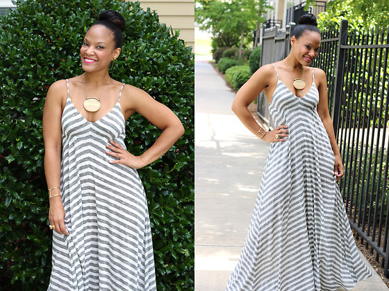 Johnnalynn Lynch -  - Striped Maxi Dress